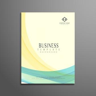 Brochure d'affaires élégante et ondulée colorée