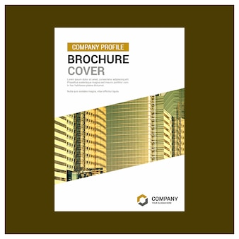 Brochure d'affaires en or et en blanc