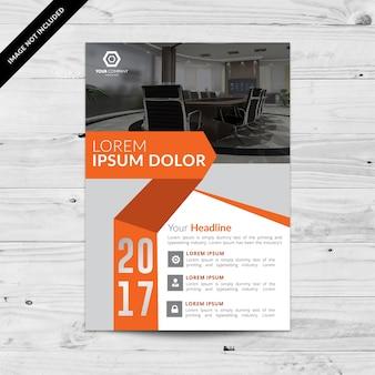Brochure d'affaires gris et orange