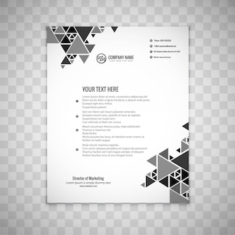 Brochure d'affaires gris moderne
