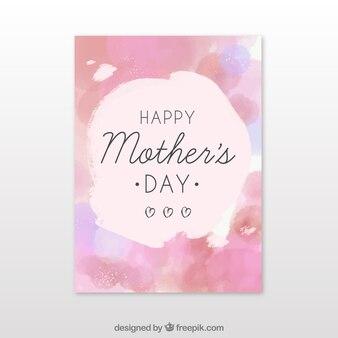 Brochure d'aquarelle pour les fêtes des mères