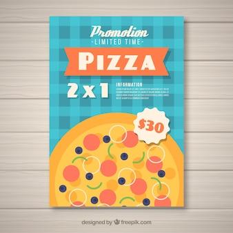 Brochure d'offre de pizza