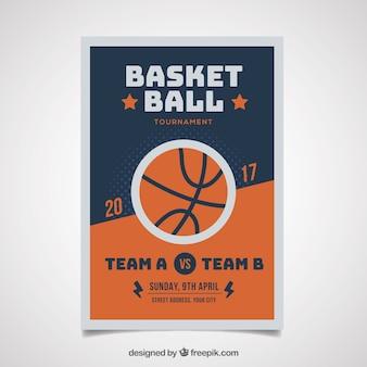 Brochure de basket-ball Vintage