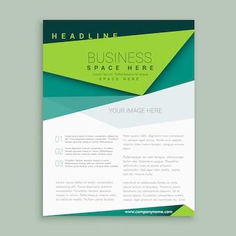 Brochure de conception de prospectus vert moderne rapport annuel couverture A4