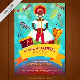 Brochure de fête de carnaval brésilien