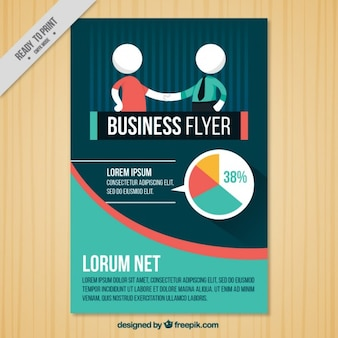 Brochure de l'entreprise avec un accord