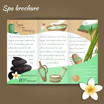 Brochure de salon de spa
