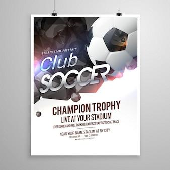 Brochure de sport de soccer