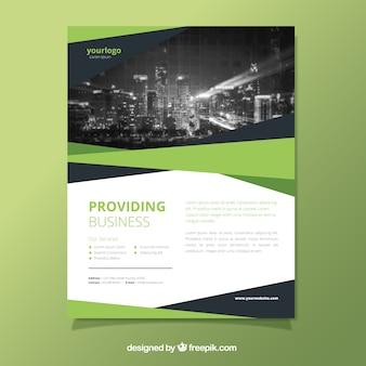 Brochure élégante d'affaires abstraite