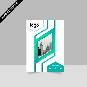 Brochure géométrique verte et blanche