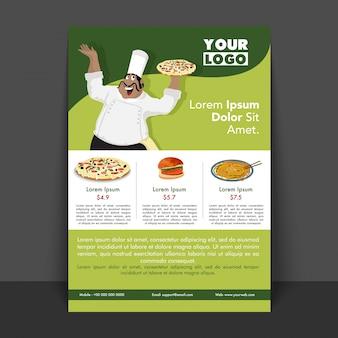 Brochure modèle de présentation d'arrière plan