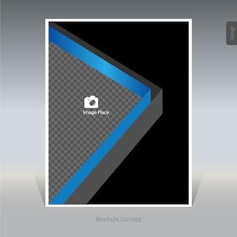 Brochure noire et bleue