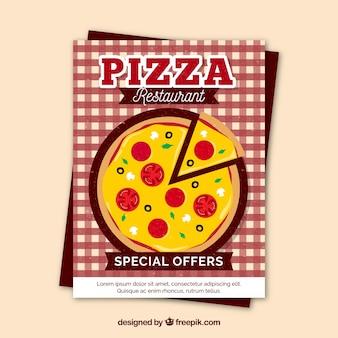Brochure pizza avec offres spéciales