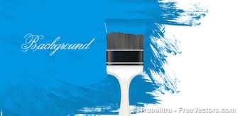 Brosse peint en bleu mur