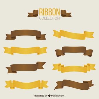 Brown et rétro rubans jaunes