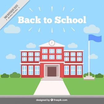 Bâtiment scolaire fond