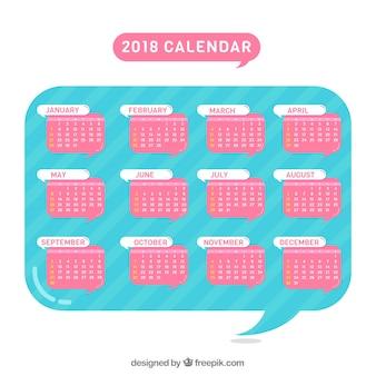Bulle de discours avec calendrier 2018