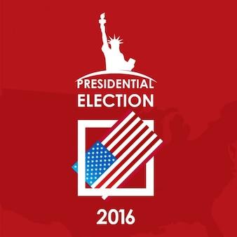 Bulletin de vote Flat USA élection présidentielle concept jour