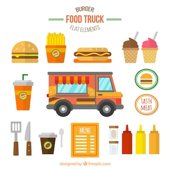 Burger collection de camion de nourriture