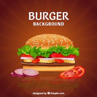 Burger délicieux avec divers ingrédients