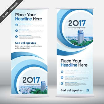 Business Background Business Roll Up Design Template.Flag Banner