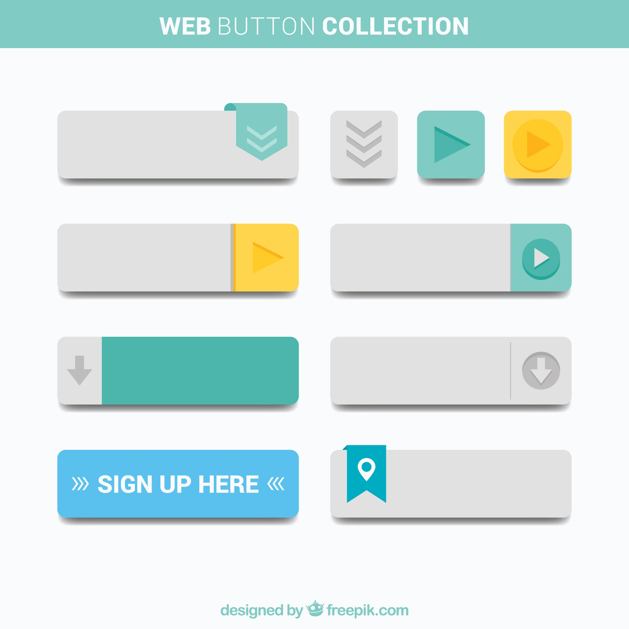 Buttons collection Web