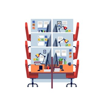 Cabinet de bureau vide bureau espace de travail intérieur