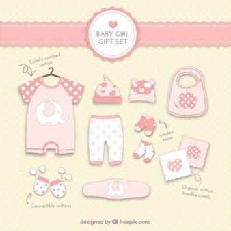 Cadeau de bébé fille ensemble