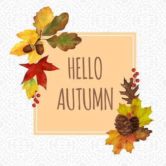 Cadre d'automne pour les cartes de décoration et d'invitation