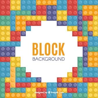 Cadre de blocs multicolores