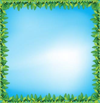 Cadre de feuilles