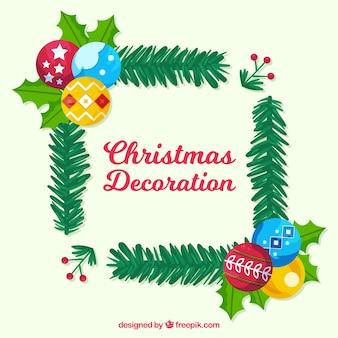 Cadre de Noël avec styel coloré
