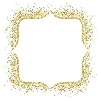 Cadre doré de Nice fait avec des confettis