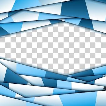 Cadre en papier bleu abstrait