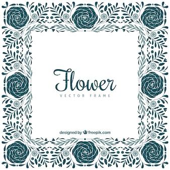 Cadre floral avec style vitnage
