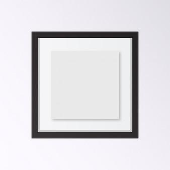 Cadre photo réaliste isolé sur fond blanc Parfait pour vos présentations Illustration vectorielle