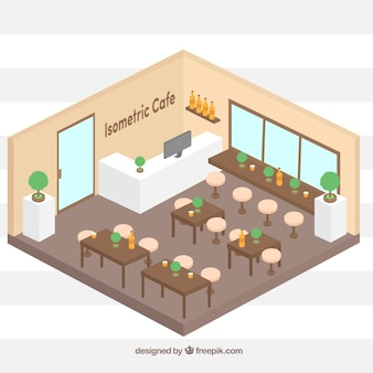 Cafetière isométrique colorée