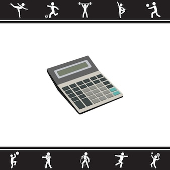 Calculatrice. illustration vectorielle