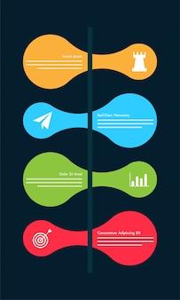 Calendrier de la feuille de route colorée Disposition d'infographie avec 4 étapes.
