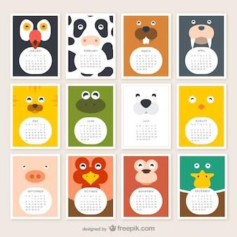 calendrier des animaux 2015