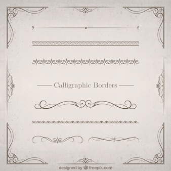 Calligraphique Borders Set