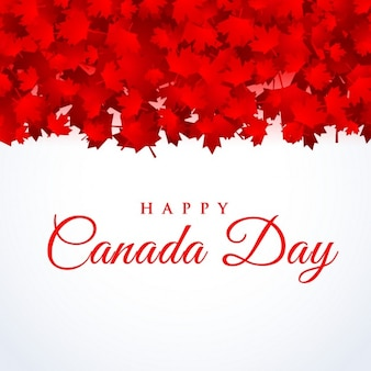Canada day background avec des feuilles d'érable