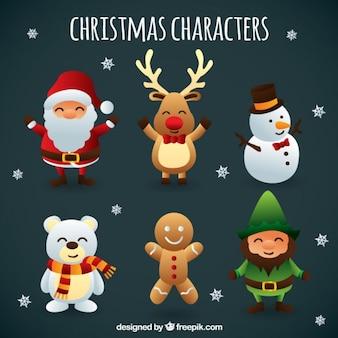 Caractères mignon de Noël