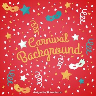 Carnaval fond de couleur rouge