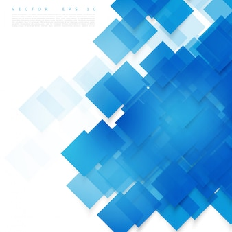 Carrés bleus vectoriels. Contexte abstrait.