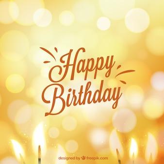 Carte d'anniversaire dans le style de bokeh