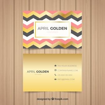 Carte d'entreprise d'or