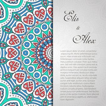 Carte d'invitation avec un décor en dentelle