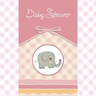 Carte de baby shower romantique