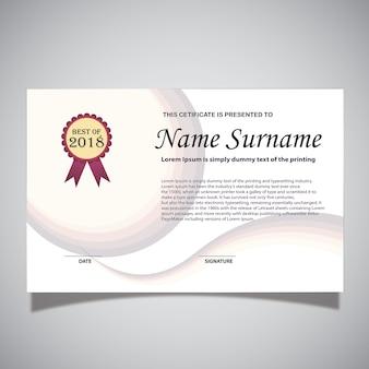 Carte de certificat blanche